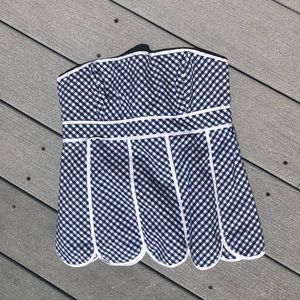 Lilly Pulitzer Strapless Gingham Tube Top Size 2